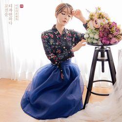 생활한복세트 여우비 저고리 + 글월 허리치마 + 다참 허리치마