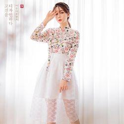 생활한복세트 이리화 저고리 + 가온 허리치마 +로즈연 허리치마