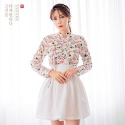 생활한복세트 이리화 저고리 + 가온 미니 허리치마