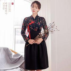 생활한복세트 흑색화 저고리 + 뭇별 블랙 허리치마