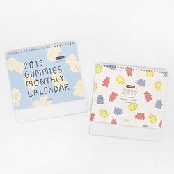 2019 Gummies 먼슬리 캘린더