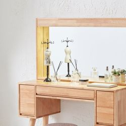 LUA 루아 원목 LED 조명 거울 (화장대 별도구매)