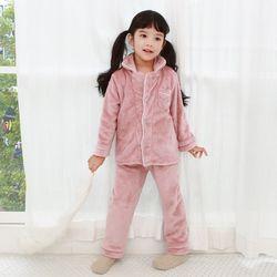 [엔비키즈] 극세사 아동 수면잠옷 핑크 파자마 수면조끼 실내복