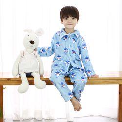 [엔비키즈] 극세사 아동 수면잠옷 스카이상어 파자마 수면조끼