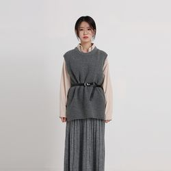 splendid boxy knit vest (4colors)