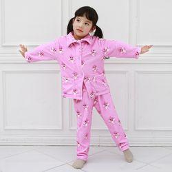 [엔비키즈] 극세사 아동 수면잠옷 핑크상어 파자마 수면조끼