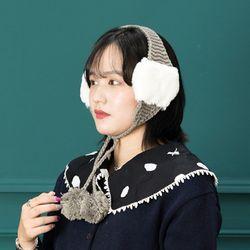 [무료배송] 겨울모자 H-10 [귀마개] 퐁퐁 귀도리 (3색 택1)