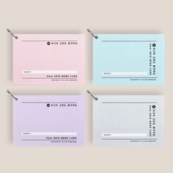 YS A6그리드암기카드