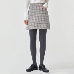 cheerful check wool mini skirt (s m)
