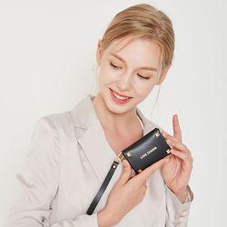 러브참 블랙 카드지갑