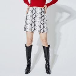 python leather mini skirt