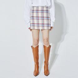 check mini skirt (2 color)
