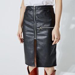 leather zipper pencil skirt