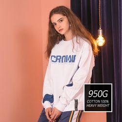 [기모] Crump two tone sweat shirt (CT0173-1)