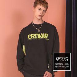 [기모] Crump two tone sweat shirt (CT0173)