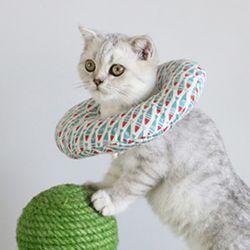 푹신 펫 쿠션넥카라 강아지 고양이 M