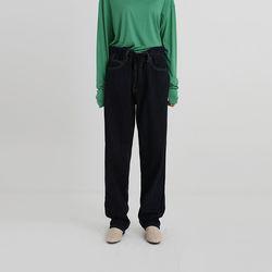 string loose denim pants