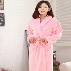 엔비 러브핑코 극세사 샤워가운 핑크