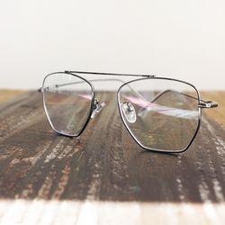 클래식 실버메탈 육각 안경n1028