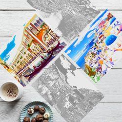 스피엘 스크래치스토리뷰 컬러링북 세계풍경 2장세트구성