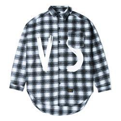 VSC OVERSIZED WOOL CHECK SHIRTS WHITE