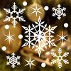 크리스마스 눈꽃 스티커 장식 CMS4J003