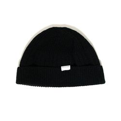 Wool beanie black