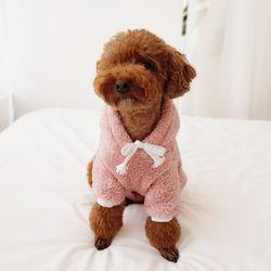 마시멜로우후리스후드티 (핑크)