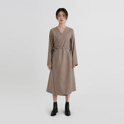 modern wool lap one-piece (2colors)