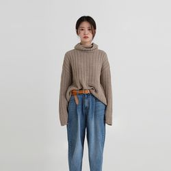 boxy golgi natural pola knit (3colors)