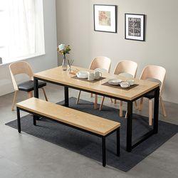 [스크래치] 모던블랙 슬로 8인 식탁 (의자별도)