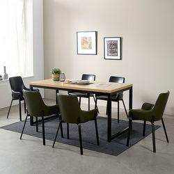 [스크래치] 모던블랙 슬로 6인 식탁 (의자별도)