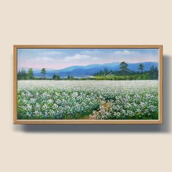 메밀꽃 풍경화 유화그림 풍수지리그림 인테리어액자