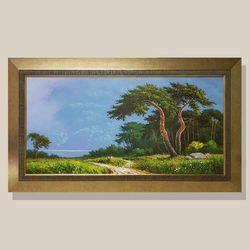 소나무절경  유화그림 풍수지리그림 소나무그림