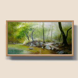 부귀의연못 유화그림 풍수지리그림 돈들어오는그림