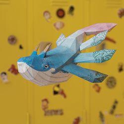 페이퍼크래프트 고래의비행(아몽)
