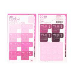 2019달력스티커 Pink
