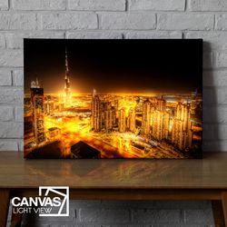 LED액자 캔버스라이트뷰 - 두바이의야경
