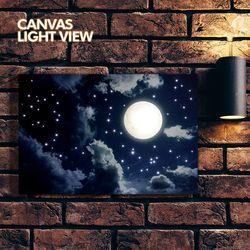 LED액자 캔버스라이트뷰 - 구름위의달