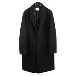 18 FW Wool Semi over Single Coat Black
