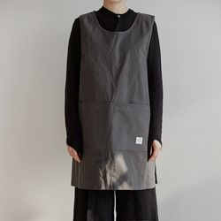 [basic series] one-piece apron[charcoal]