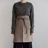 [basic series] half apron [brown]