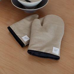 [basic series] oven gloves [beige]
