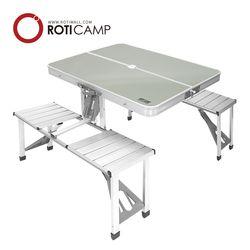 의자일체형 알루미늄 벤치 접이식 테이블 캠핑 낚시 용품