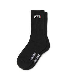 NEI LOGO SOCKS - BLACK