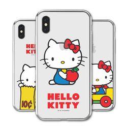 헬로키티 복고 투명 젤리 케이스.아이폰6(s)