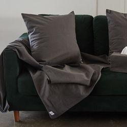 wuseoul [basic series] 50 cushion cover [charcoal]
