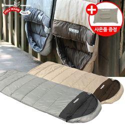 스트라이프 침낭(머미형)-감성 캠핑 사계절 디자인