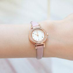 로즈골드다이얼 핑크 가죽시계(OTW117C01APP)