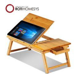 참대나무 노트북 받침대 거치대 테이블